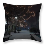 City Tranquility Throw Pillow