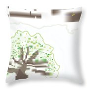 City Tree Throw Pillow
