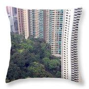 City Versus Nature Throw Pillow