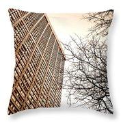 City Vs Nature Throw Pillow
