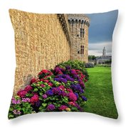 City Wall Vannes France Throw Pillow