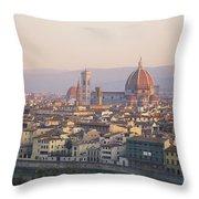 Cityscape, Florence, Italy Throw Pillow