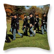 Civil Soldiers March Throw Pillow