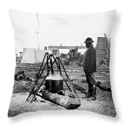 Civil War: Army Cook Throw Pillow