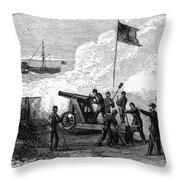 Civil War Battery Throw Pillow