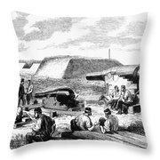 Civil War Battery Scene Throw Pillow