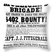 Civil War: Broadside, 1863 Throw Pillow
