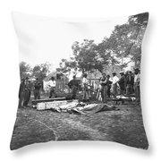 Civil War Burial, 1864 Throw Pillow