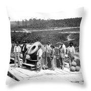 Civil War: Cannon, 1864 Throw Pillow