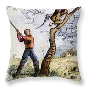 Civil War Cartoon, 1862 Throw Pillow