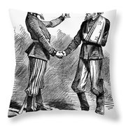 Civil War: Cartoon, 1865 Throw Pillow