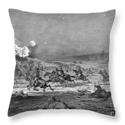 Civil War: Cavalry Charge Throw Pillow