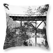 Civil War: Foot Bridge Throw Pillow