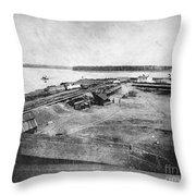 Civil War: Fort Defiance Throw Pillow
