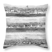 Civil War: Fort Moultrie Throw Pillow
