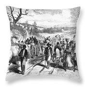 Civil War: Freedmen, 1863 Throw Pillow by Granger