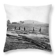 Civil War: Graves, 1862 Throw Pillow