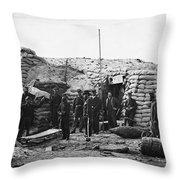 Civil War: Headquarters Throw Pillow