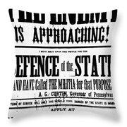 Civil War: Lees Campaign Throw Pillow