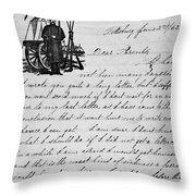 Civil War: Letter, 1862 Throw Pillow