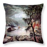 Civil War: Naval Battle Throw Pillow