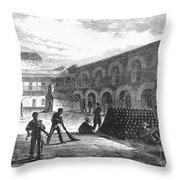 Civil War: New York Fort Throw Pillow by Granger