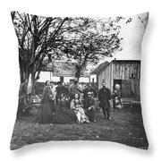 Civil War: Nurses & Officers Throw Pillow
