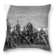 Civil War Officers Throw Pillow