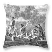 Civil War: Potomac River Throw Pillow