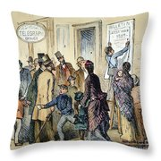Civil War Telegraph Office Throw Pillow