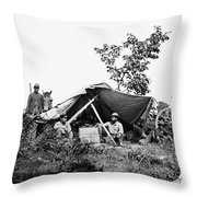 Civil War: Telegraphers, 1864 Throw Pillow