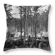 Civil War: Union Camp, 1864 Throw Pillow