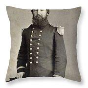Civil War Union Commander Throw Pillow