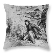 Civil War: Union Infantry Throw Pillow