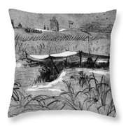 Civil War: Union Picket Throw Pillow