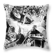 Civil War: Women, 1862 Throw Pillow