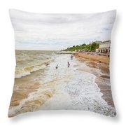 Clacton Beach Throw Pillow