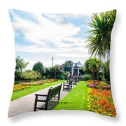 Clacton Pleasure Garden Throw Pillow