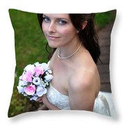 Claire1 Throw Pillow