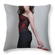 Claire2 Throw Pillow