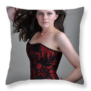 Claire5 Throw Pillow