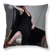 Claire6 Throw Pillow