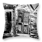 Clapboards And Lace Throw Pillow