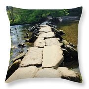 Clapper Bridge-sommerset Throw Pillow