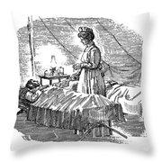 Clara Maass (1876-1901) Throw Pillow