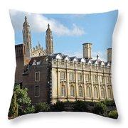 Clare College Cambridge Throw Pillow