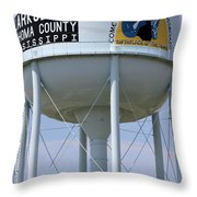 Clarksdale Water Tower Throw Pillow