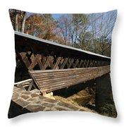 Clarkson Covered Bridge Throw Pillow