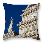 Clarksville Historic Courthouse Throw Pillow