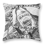 Clash With Reality Throw Pillow